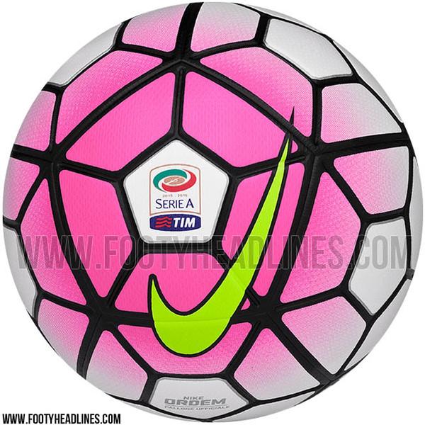 serie a 2015 2016 il pallone rosa e bianco della nike per la prossima stagione foto. Black Bedroom Furniture Sets. Home Design Ideas