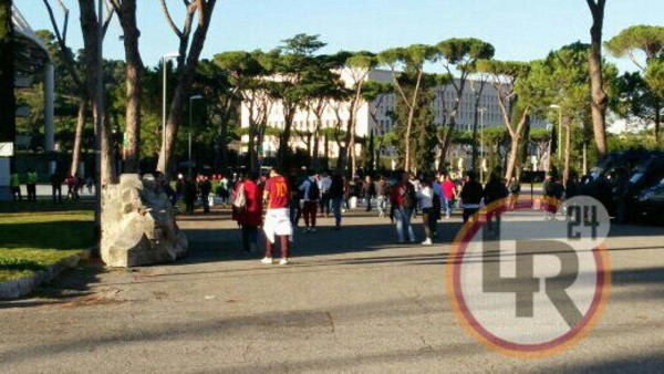 Roma Empoli I Tifosi Iniziano Ad Entrare All 39 Olimpico